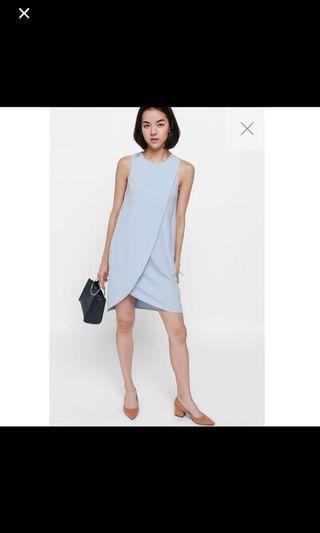 Love Bonito LB Adra Asymmetrical Layer Dress (Baby blue - Xs)