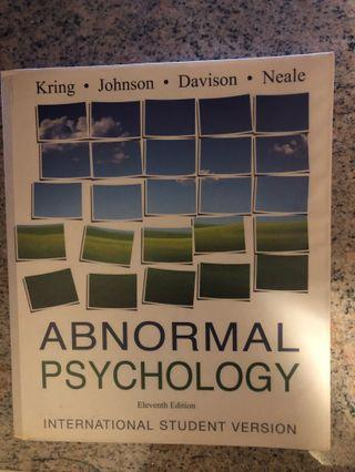Abnormal Psychology (11th edition)