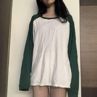 🚚 寬鬆拼色長袖