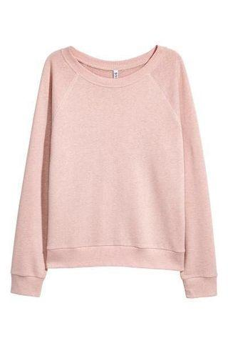 h&m basic pink pullover