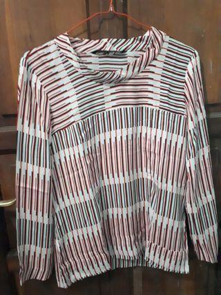 Zara woman blouse stripe