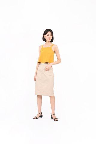 🚚 RWB Tansy Midi Skirt in yellow