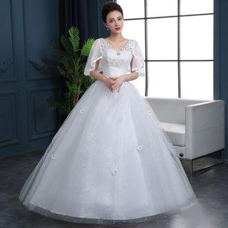 Plus Size White Wedding Gown for Rent