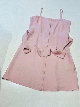 🚚 BNWOT Sweet/Delicate Pink Korean Ulzzang Dress