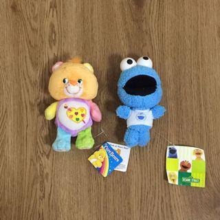 Carebear / Cookie Monster (Sesame Street) Keychains / Mini Soft Toys