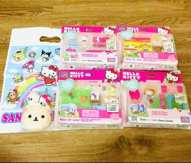 Hello Kitty Mega Blocks Toy Sets — brand new in packages, unopened