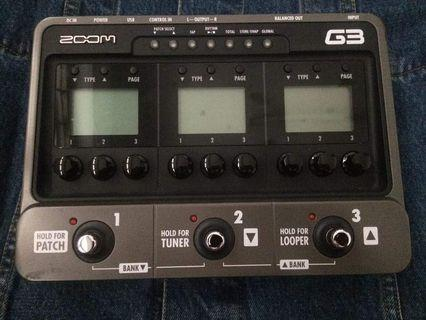 G3 zoom effect pedals
