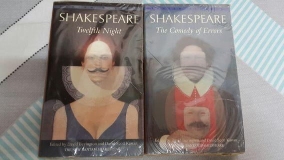 英文小說 Shakespeare 莎士比亞 小說 Twelfth Night & The Comedy Of Errors