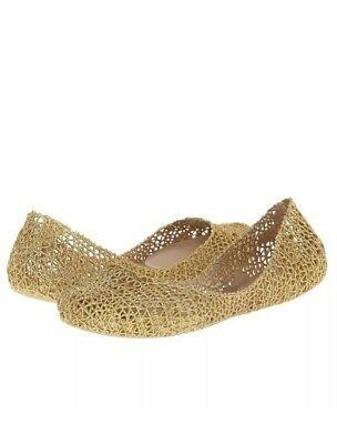 🚚 Melissa Campana Papel VII Ad Flats in Gold Glitter
