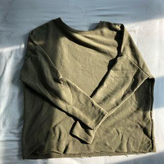 Pull & Bear Army Green Pullover