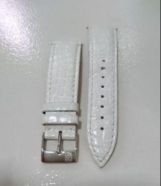 Leather Strap 19mm width in White Color (Frederique Constant)