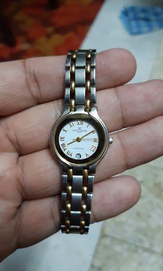 Clearance! Carlo Cardini swiss made saphire watch