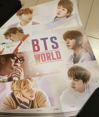 (wts/instock) bts world ost album rolled poster