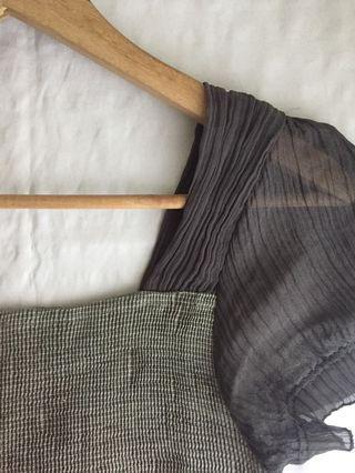 Gray Textured Dress