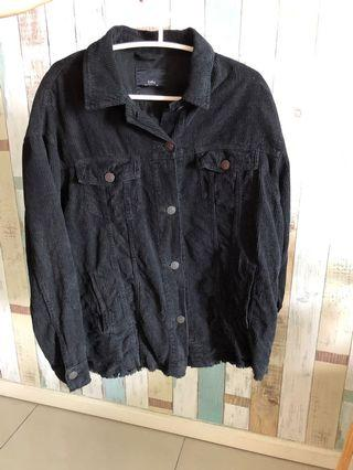 Zara Black oversize Denim Jacket