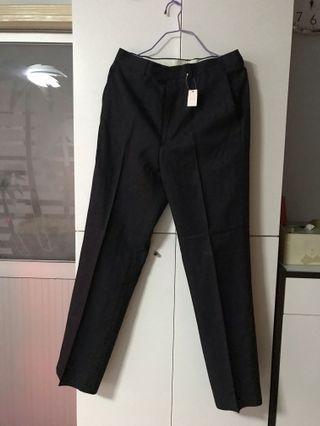 男裝日本深灰色西裝長褲28吋腰