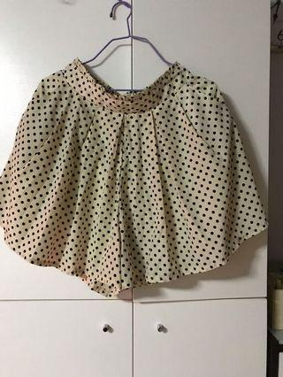 半截波點短裙褲(米白底 黑波點)M~L碼