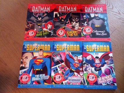Batman and Superman story books