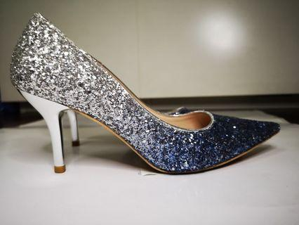 High Heels Ombre Blue Silver