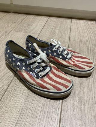 Vans Shoes | American flag style