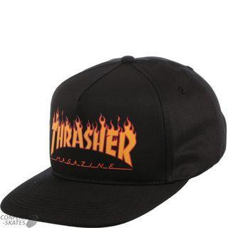 "THRASHER ""Flame Logo"" Structured Snapback Cap"