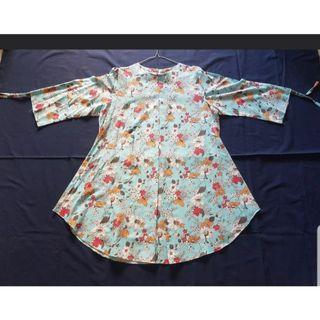 Tunik flower baju hamil Mididress