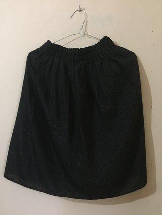 RE PRICE!!! Polka Black Skirt