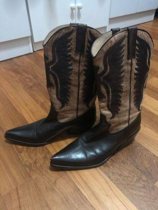 Cowboy Boots Made In Italy Size 37