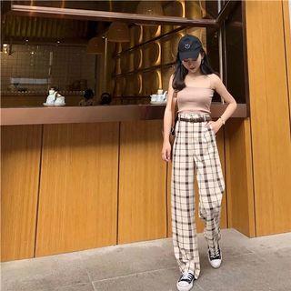 retro grid pants