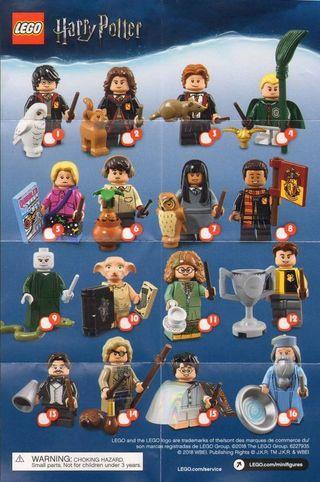 全新 lego harry Potter minifigures 哈利波特 full set