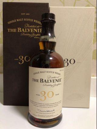 Balvenie  30 Years  Single Malt Scotch Whisky 百富30年單一純麥威士忌  47.3%abv