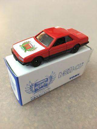Tomica No3 Nissan Skyline 2000 Turbo GT-ES Red 30th Anniversary Tomy Car Kuji 1