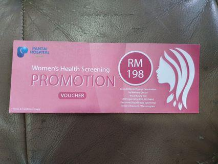 Women's health screening promotion