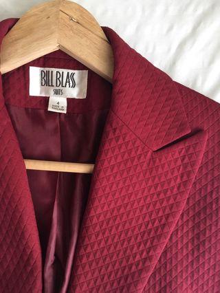Bill Blass Maroon Blazer