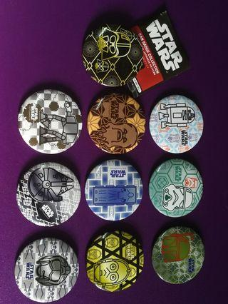 Star Wars Tin Button Badge From Japan
