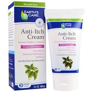🚚 Earth's Care Anti-Itch Cream, with Shea Butter and Almond Oil (68g)