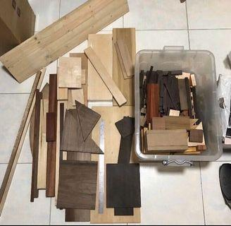 Clearance Exotic Wood Lumber Pieces