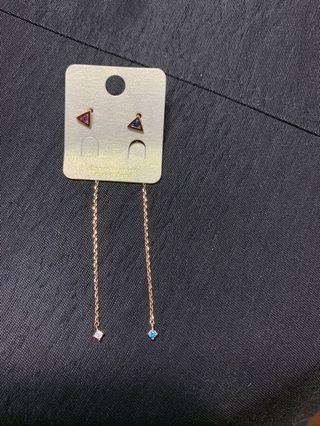 純銀925 氣質韓版耳環