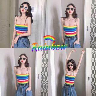 Instock! Free mailing! 🌈 Striped Crop Top rainbow