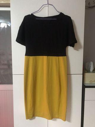 黑/黃色連身裙M碼