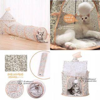 🎏貓咪可拆摺隧道帳篷🐈