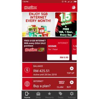 Hotlink Share a Top up