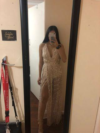 Gold sequin dress size S