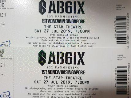 [WTS] AB6IX 1st Fanmeeting in Singapore
