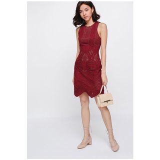 Love Bonito Olesya Mesh Overlay Dress