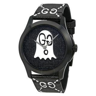 Gucci G-Timeless Black with Ghost Motif Dial Men's Watch YA1264018