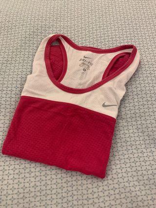 Nike pink tank top size medium