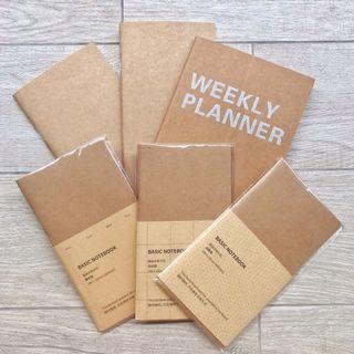PLANNERS (Weekly/ Monthly/ Grid/ Dotted etc)