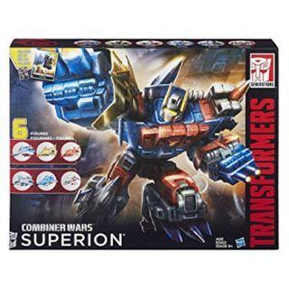 Transformers Combiner Wars Superion 6 Pack Aerial Bots Action Figure Set