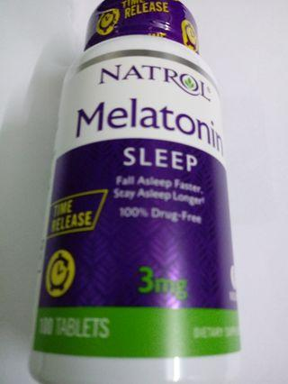 改善入睡褪黑素 Natrol Melatonin 3mg 100粒